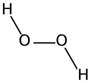 De chemische formule van waterstofperoxide